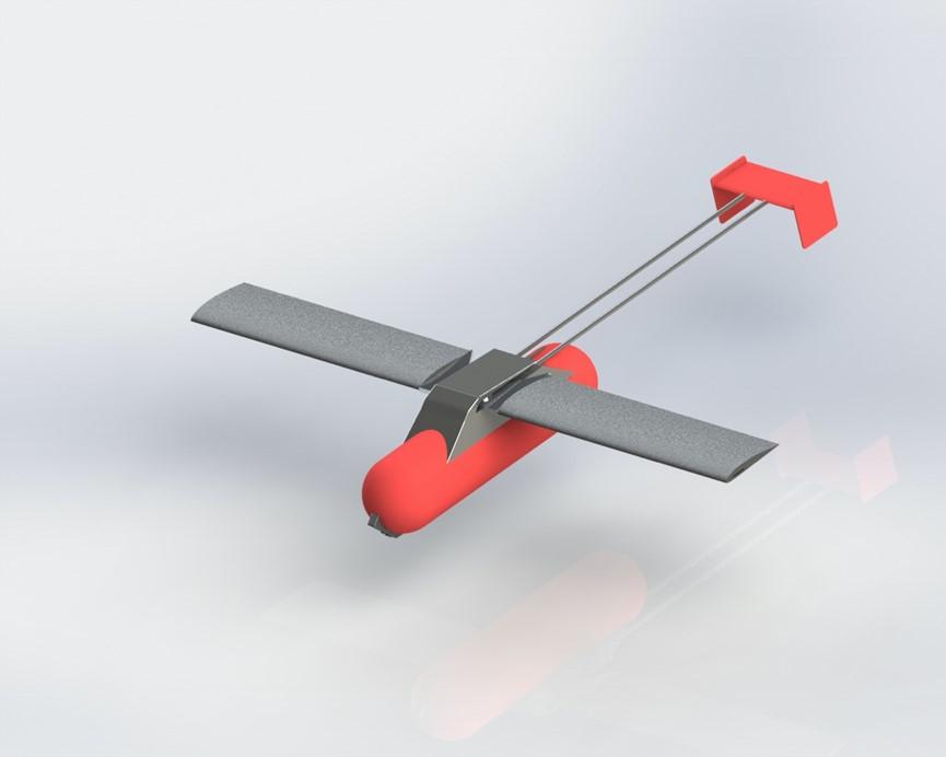滑翔式灭火弹
