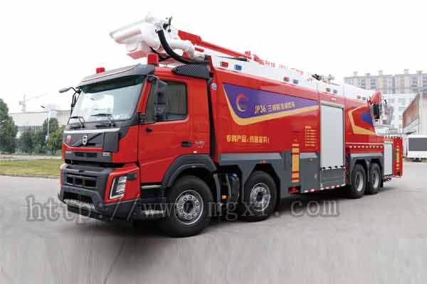 36米举高喷射三相射流消防车