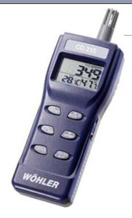 CD 210 室内空气质量检测仪 (同时测量CO2, 温度, 湿度)