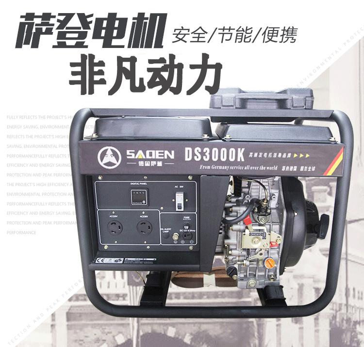 柴油应急发电机组DS3000K