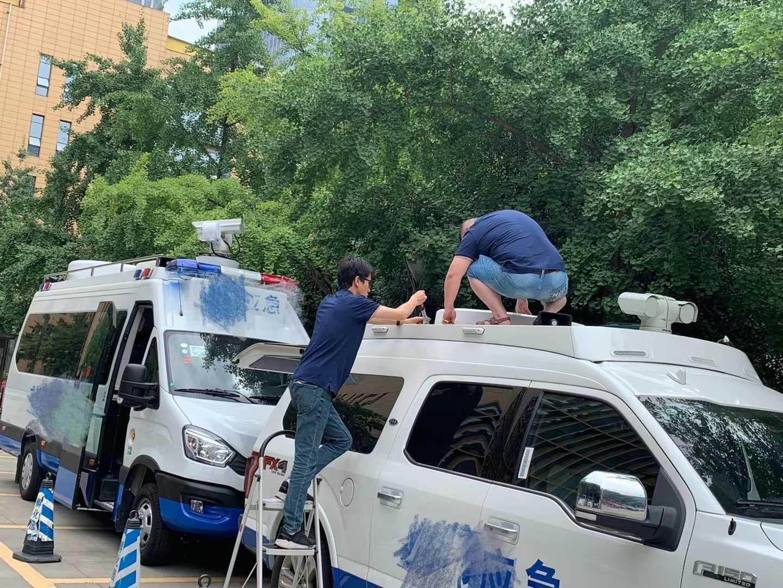 成都东市应急局-Ku频段相控阵车载动中通项目交付中