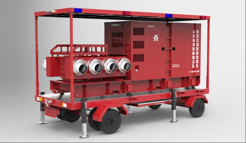 拖挂式消防应急排涝泵车