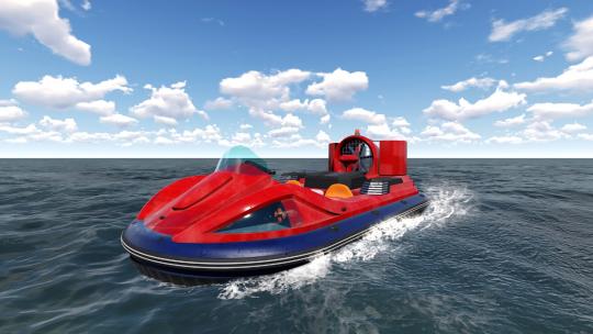 气垫船-防汛战役中的有力武器